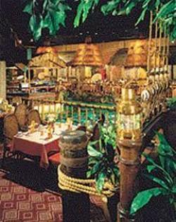 The leafy retro luxuriance of  San - Francisco's Tonga Room.