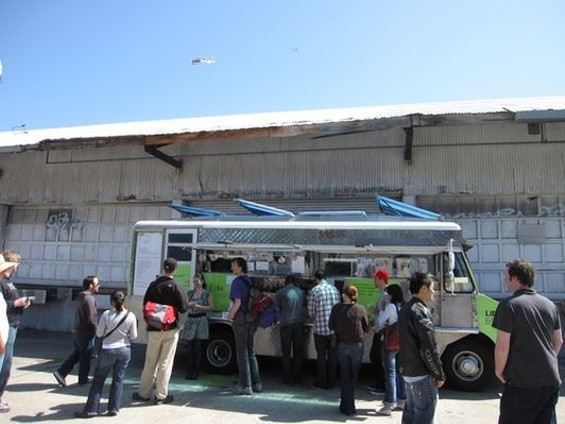 The Liba Falafel truck parks on private property in Potrero Hill. - THOMAS R./YELP