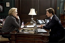 DAVID JAMES - The liberal reporter (Meryl Streep) chats up the warmongering politician (Tom Cruise) in this gabby Robert Redford film.