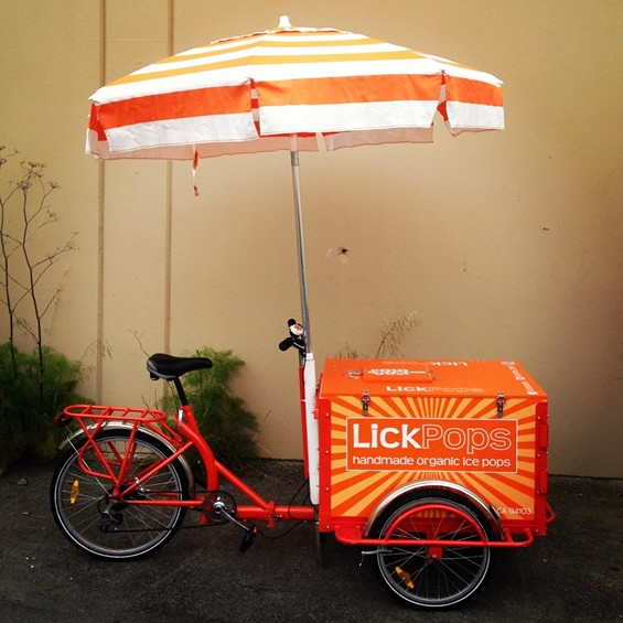 The LickPops tricycle. - LICKPOPS