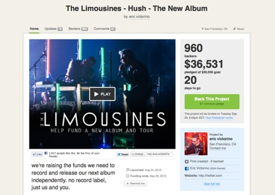 The Limousines' Kickstarter page.
