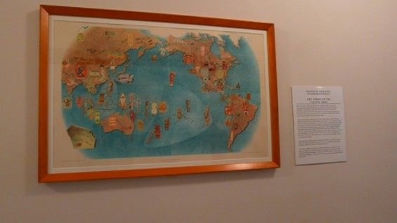 The lithographs are on display at the Mechanics' Institute.