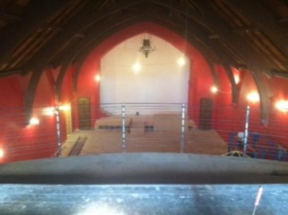 The live venue inside the Chapel
