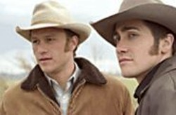 KIMBERLY  FRENCH - The Lonesome West: Ennis (Heath Ledger) and Jack - (Jake Gyllenhaal) live closeted on the open range.