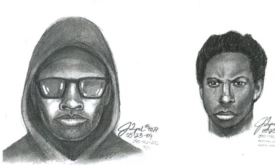 The man on the left is the suspect for a fatal April mugging; at right is his buddy