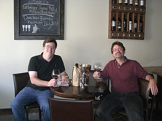 The man (right) who fell out of love with Pinot.