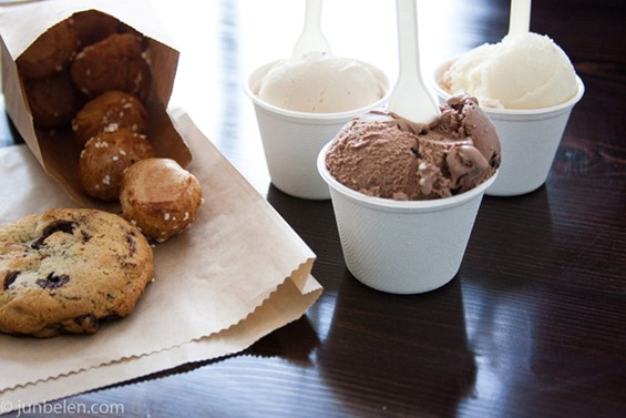 The menu of house-made ice creams features a miscellany of classic American flavors. - JUN BELEN