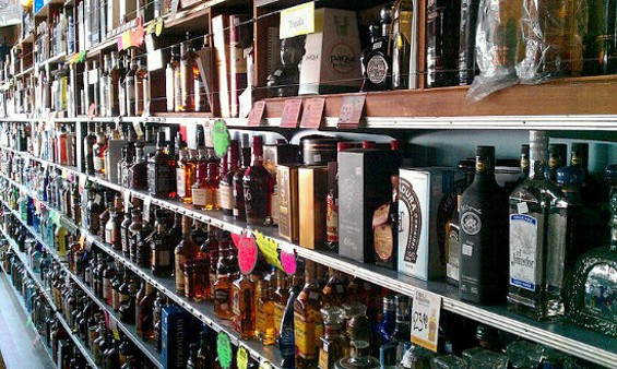 The mighty shelves at Ledger's Liquors