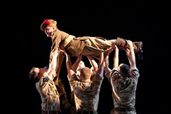 SCOTT SUCHMAN - The military goes easy on crowd-surfing in Black Watch.
