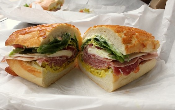 The Molinari Special on Dutch crunch from Molinari's Delicatessen in North Beach - KATE WILLIAMS
