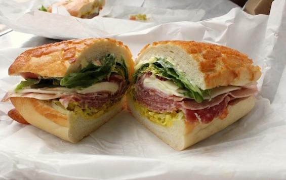 The Molinari Special on Dutch crunch from Molinari's Delicatessen in North Beach - KATE WILLIAMS