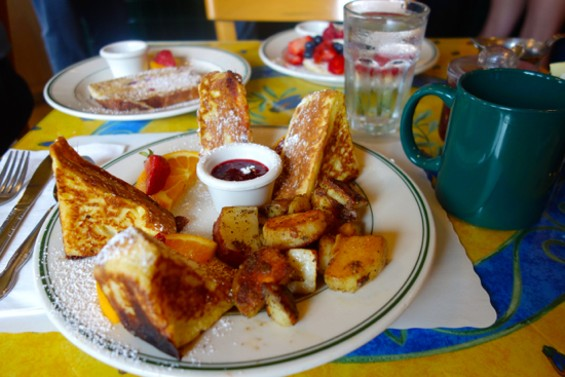 The Monte Cristo at Mama's on Washington Square: a turkey, ham, cheddar and gruyere sandwich dipped in egg white and grilled. - FERRON SALNIKER