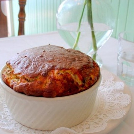 The mushroom souffle at Cafe Jacqueline, $28. - JUSTAFOODIE/FOODSPOTTING