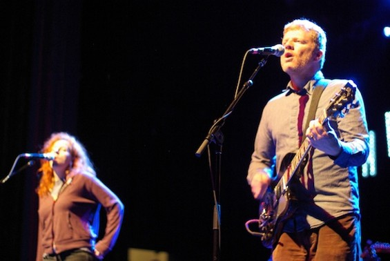 The New Pornographers at the Regency Ballroom last night.