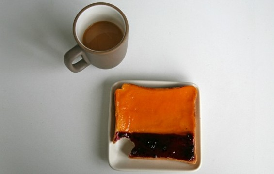 The new Rothko-inspired toast at Blue Bottle in SFMOMA. - BLUE BOTTLE/SFMOMA