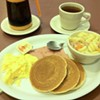 Eggs, Pancakes, and Macaroni Soup at Pacific Court Cafe