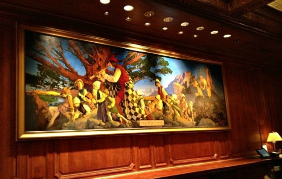 The painting that spans 16 feet long by six feet deep is valued at $3 to $5 million. - PALACE HOTEL