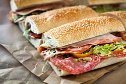 LARA HATA - The Philly-style hoagie with a trio of meats