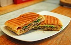 EVAN DUCHARME - The porchetta sandwich at Avedano's Holly Park Market