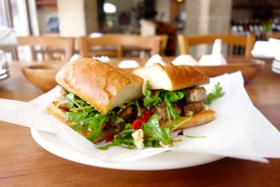 The Porchetta sandwich at Porcellino, the Incanto team's new casual restaurant and market. - FERRON SALNIKER