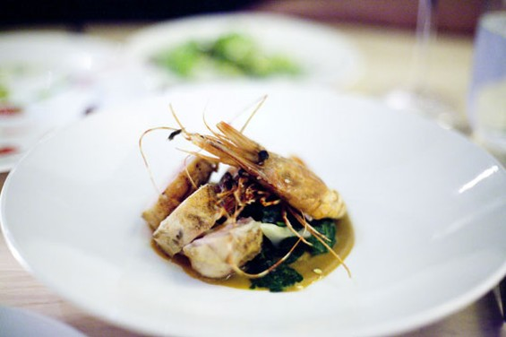 The prawns and hen at Commonwealth. - CREDIT TK