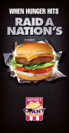 The Raiders want Nation's to pay them, and not in burgers