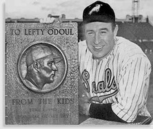 The real Lefty, with his lefty intact...