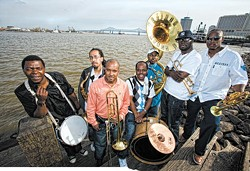 IMAGE COURTESY OF: SKIP BOLEN - The Rebirth Brass Band, rising above