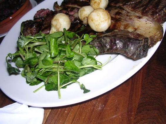 The rib steak for two: Challenging. - J. BIRDSALL