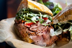 LARA HATA - The roast beef sandwich at Sweet Woodruff.