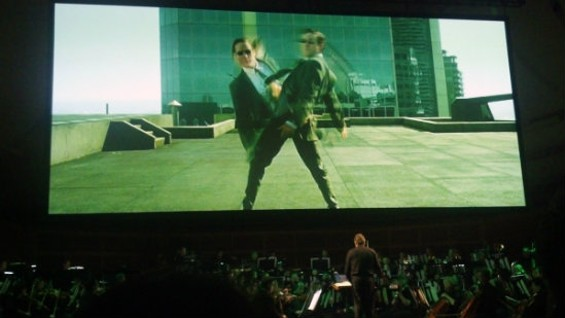 The San Francisco Symphony performing the soundtrack to The Matrix live. Photos by the author.