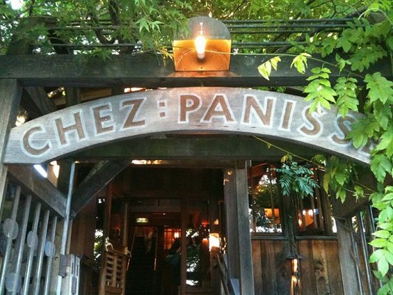 The sign for Chez Panisse should read: All hunger ye who enter here. - MARIOANIMA/FLICKR
