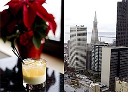 JEN SISKA - The Silent Night cocktail and view from the Hyatt.