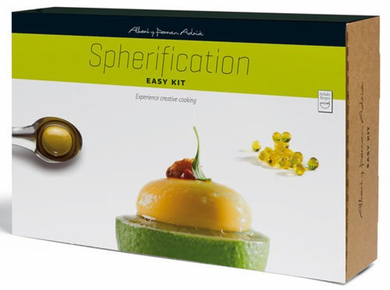 "The spherification kit helps you ""create spheres of different sizes and shapes that explode in the mouth."" - GUZMÁN GASTRONOMÍA"