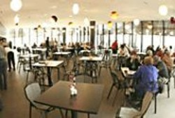 JAMES  SANDERS - The stylish de Young Cafe.