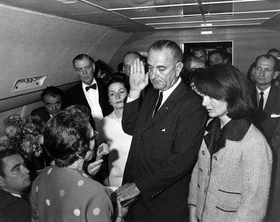 The swearing in of Lyndon B. Johnson as president - JOHN F. KENNEDY PRESIDENTIAL LIBRARY