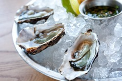 LARA HATA - The Sweetwaters: A tasty bivalve and liquor (its own) all in one package.