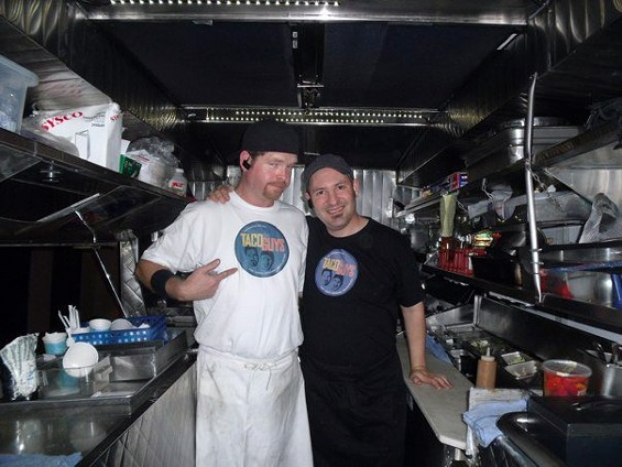 The Taco Guys: Justin Close (left) and Jason Hoffman. - THE TACO GUYS/FACEBOOK