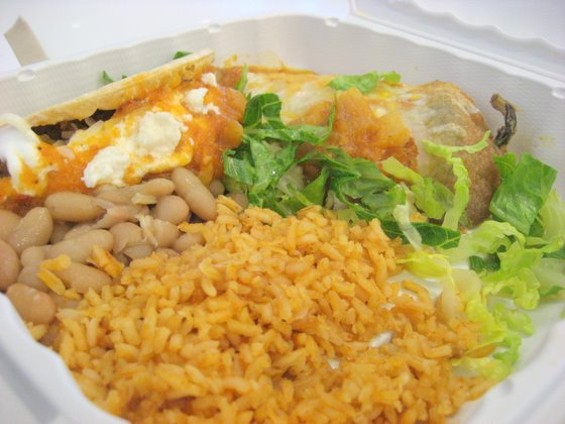 The taquito and chile relleno combo from Andalé.