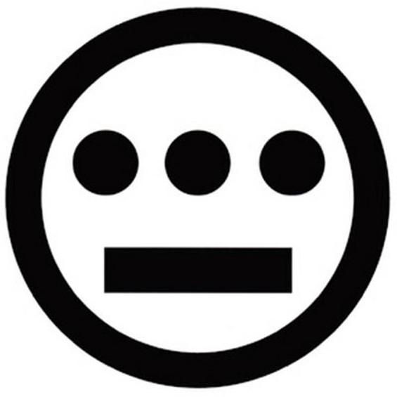 The third eye logo of Oakland hip-hop crew Hieroglyphics.