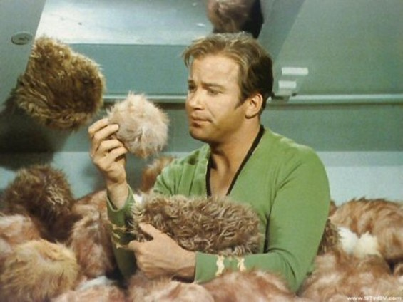 The trouble with Star Trek weddings: Everyone gets you the same gift.