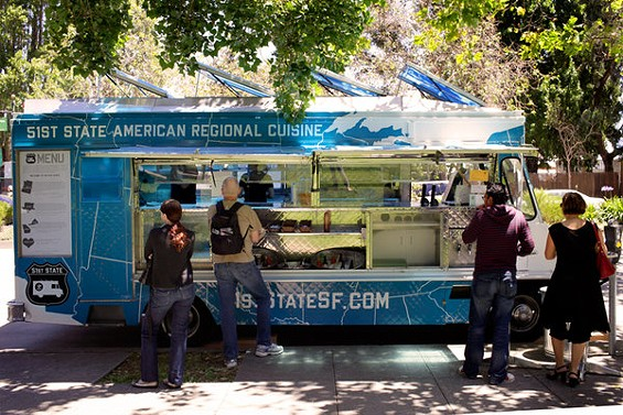 The truck parks weekdays in three downtown locations. - 51ST STATE