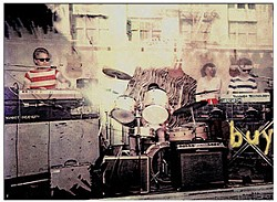 CHESTER SIMPSON - The Units performing in 1979 in the window of JC Penney.