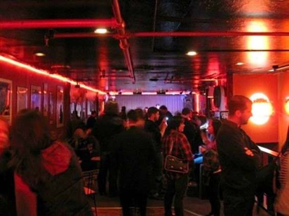The upstairs venue at Kimo's