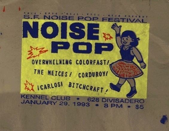 The very first Noise Pop poster from 1993.