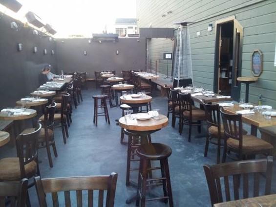 The Vestry's patio - PETE KANE