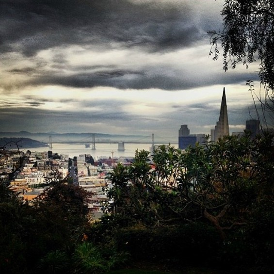 The view from Coolbrith's Park - JUAN DE ANDA/SF WEEKLY