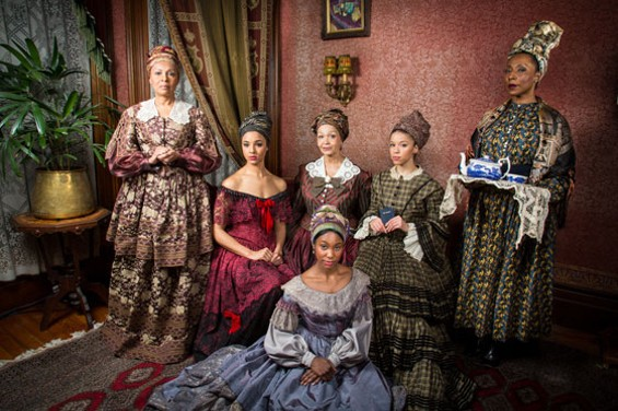 "The women of ""The House that will not Stand"" - PHOTO BY CHESHIRE ISAACS"