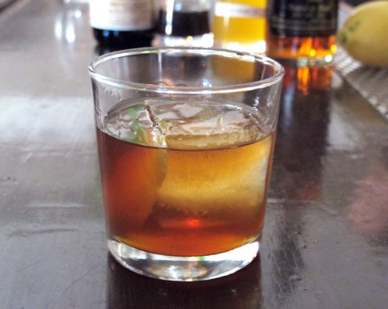 The Woodsman at Bloodhound is a take on the Old Fashioned. - LOU BUSTAMANTE