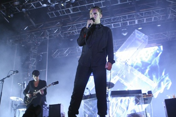The xx at Treasure Island Sunday night. - CHRISTOPHER VICTORIO